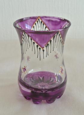 ミントティーグラス紫