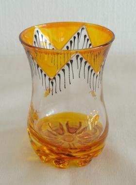 ミントティーグラス黄色
