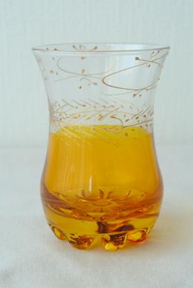 ミントティーグラス 黄