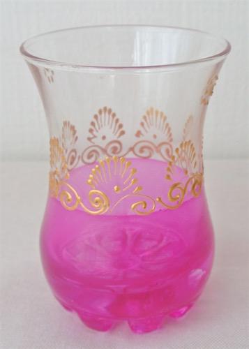 ミントティーグラス ピンク