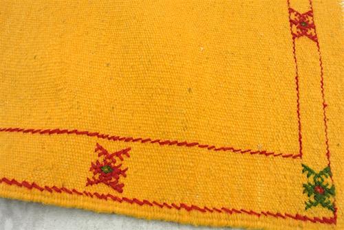 モロッコラグ 黄色