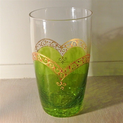 特大グラス黄緑