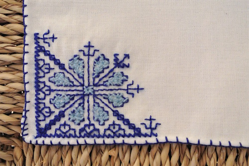フェズ刺繍ハンカチ
