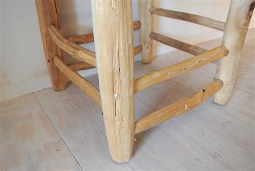 オレンジの木椅子