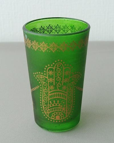 ミントティーグラス ファティマの手 緑