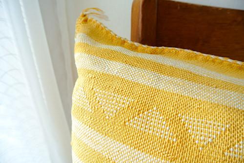 クッションカバー 黄色