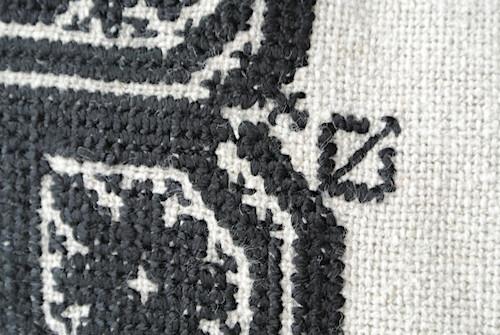 フェズ刺繍クッションカバー