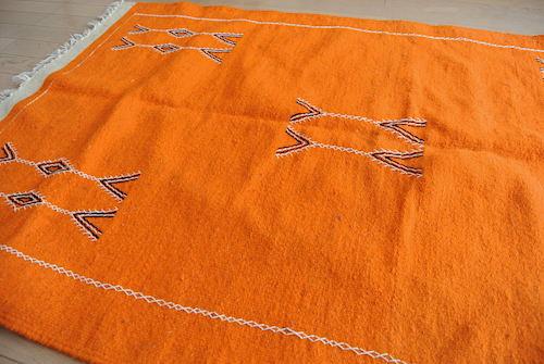 モロッコラグ  アフニフ オレンジ