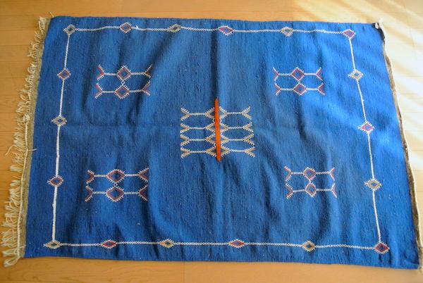 モロッコラグ  アフニフ 青