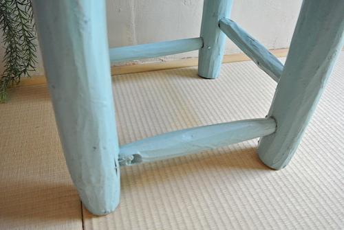 木椅子 水色