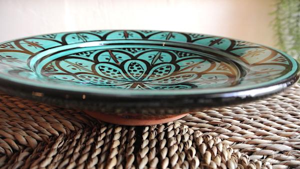 サフィ皿緑