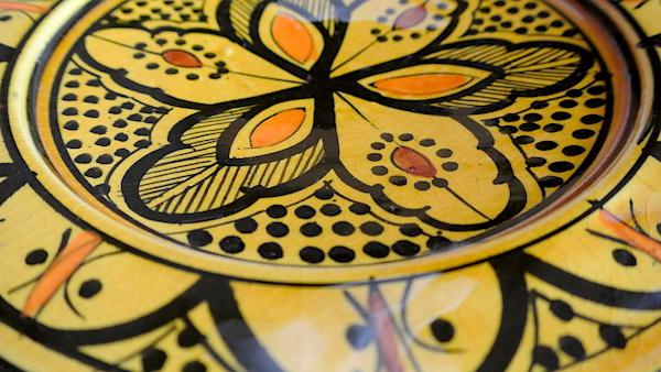 サフィ皿 黄色